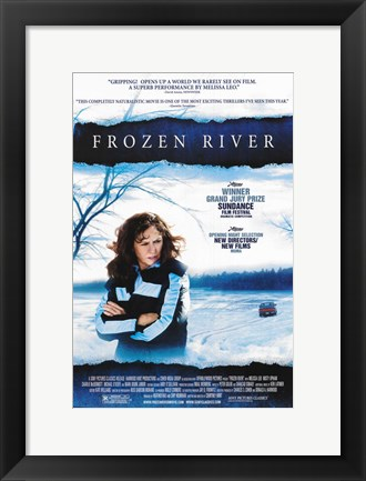 Framed Frozen River Print