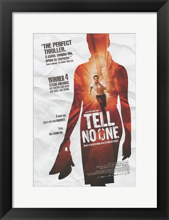 Framed Tell No One Print