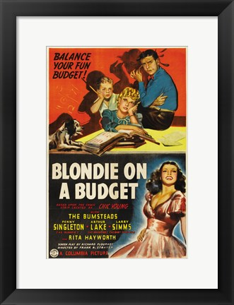 Framed Blondie on a Budget Print