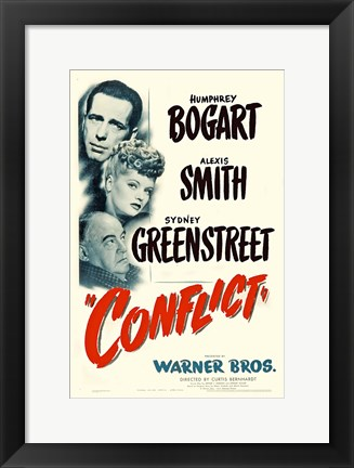 Framed Conflict Bogart Smith & Greenstreet Print