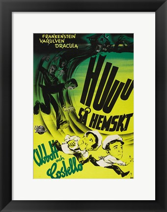 Framed Bud Abbott and Lou Costello Meet Frankenstein, c.1948 (foreign) Print