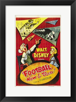 Framed Football Now and Then Print