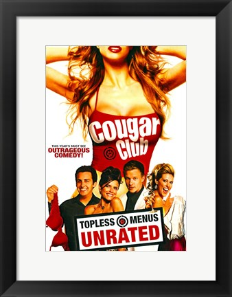 Framed Cougar Club Print