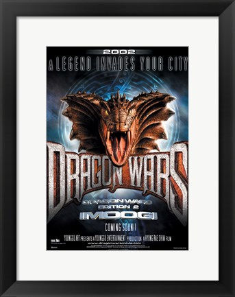 Framed D-War Dragon Wars Print
