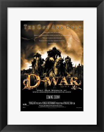 Framed D-War The One & Only Print