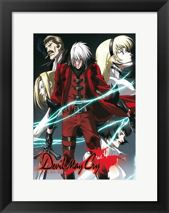 Framed Devil May Cry - characters Print