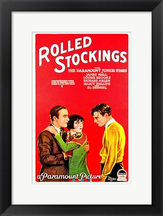 Framed Rolled Stockings Print