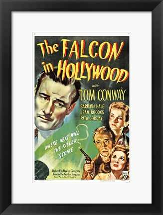 Framed Falcon in Hollywood Print
