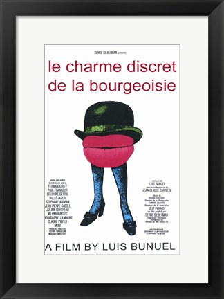 Framed Discreet Charm of the Bourgeoisie French Print