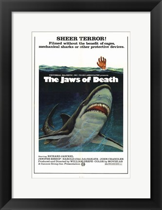 Framed Jaws of Death Print