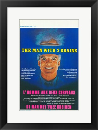 Framed Man With Two Brains Print