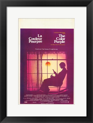 Framed Color Purple - woman in  the window Print