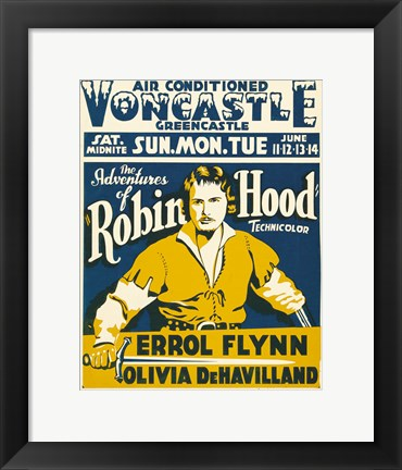 Framed Adventures of Robin Hood Voncastle Print