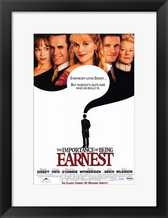 Framed Importance of Being Earnest Print