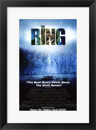 Framed Ring Scary Movie Print