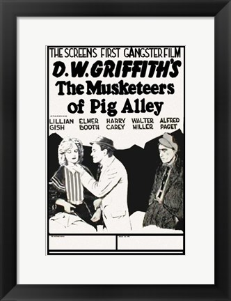 Framed Musketeers of Pig Alley Print