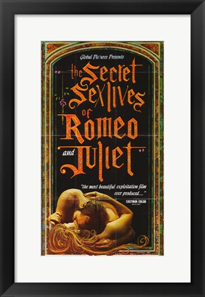 Framed Secret Sex Lives of Romeo and Juliet Print