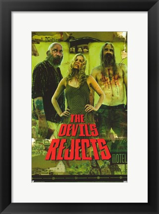Framed Devil's Rejects Baby Captain Spalding & Otus Print