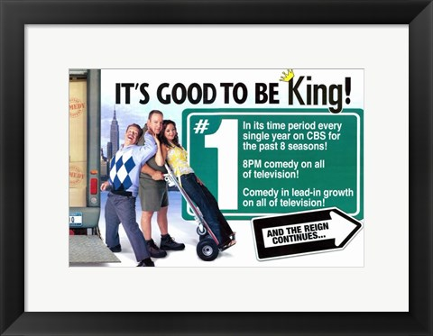 Framed King of Queens Print