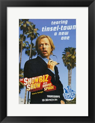 Framed Showbiz Show with David Spade Print