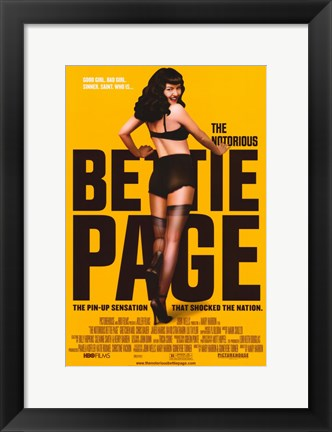 Framed Notorious Bettie Page - style B Print