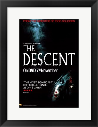 Framed Descent Movie Print