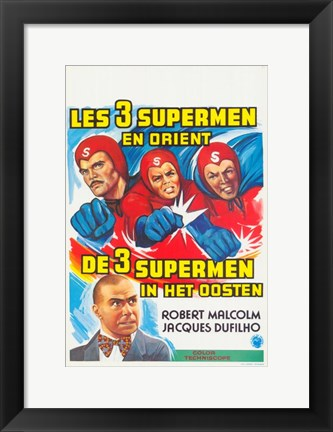 Framed Three Fantastic Supermen in the Orient Print