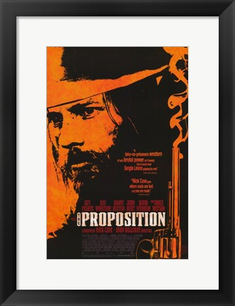 Framed Proposition - man with a hat Print