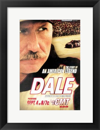 Framed Dale The Story of an American Legend Print