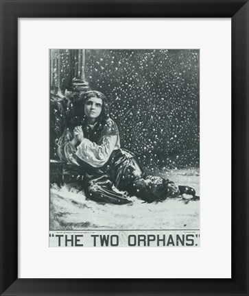 Framed (Broadway) Two Orphans Print