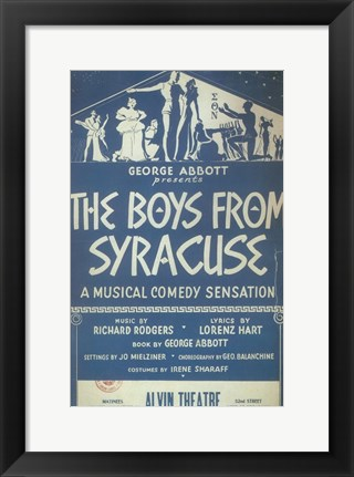 Framed (Broadway) Boys From Syracuse Print