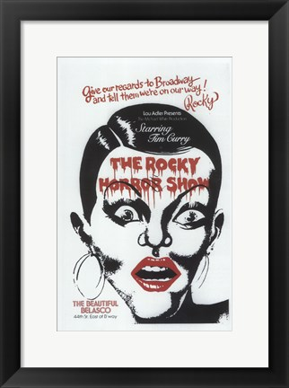 Framed (Broadway) Rocky Horror Show Print