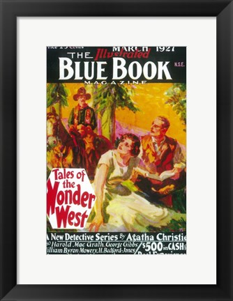 Framed (Pulp) Illustrated Blue Book Magazine Print