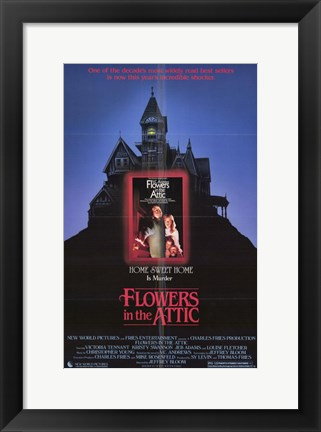 Framed Flowers In the Attic Print