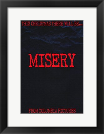 Framed Misery Stephen King Print
