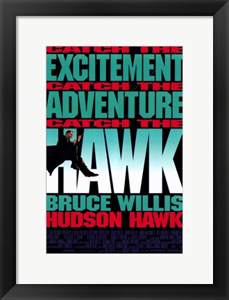 Framed Hudson Hawk Print