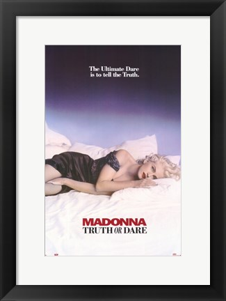 Framed Madonna Truth or Dare Print