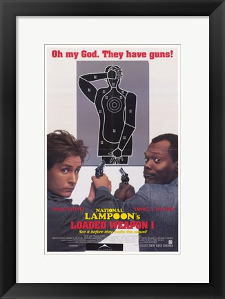 Framed National Lampoon's Loaded Weapon 1 Print