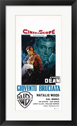 Framed Rebel Without a Cause Natalie Wood Italian Print