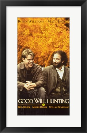 Framed Good Will Hunting Affleck Williams Print