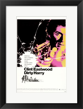 Framed Dirty Harry Shooting Print