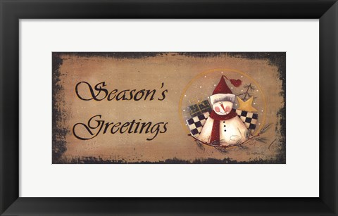 Framed Season's Greetings Print