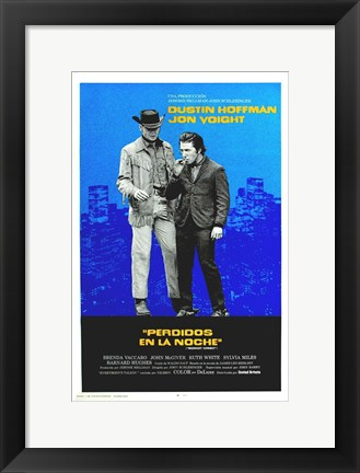 Framed Midnight Cowboy - blue Print