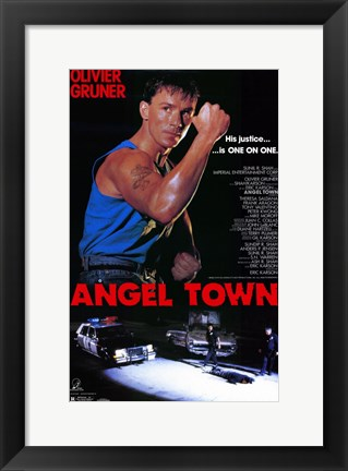 Framed Angel Town Print
