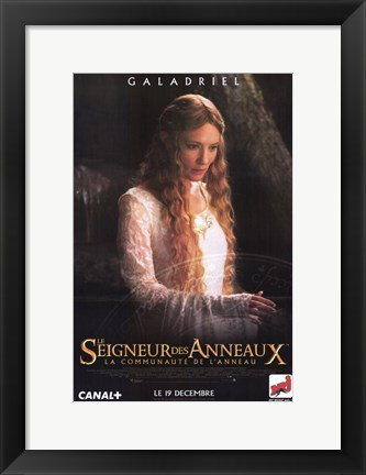 Framed Lord of the Rings: Fellowship of the Ring Galadriel Print