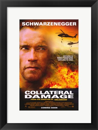 Framed Collateral Damage Print