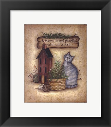 Framed Purr-fect Home Print