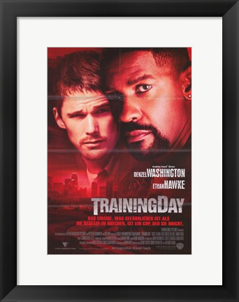 Framed Training Day Ethan Hawke Print