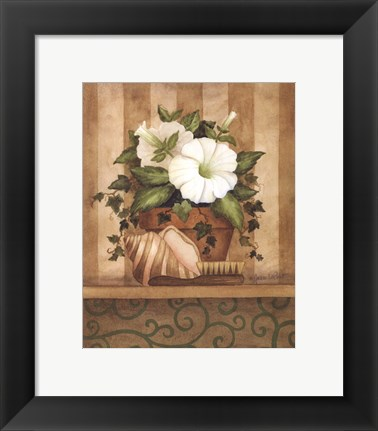 Framed Petunia and Shell Print
