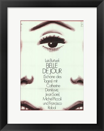 Framed Belle de Jour - face Print